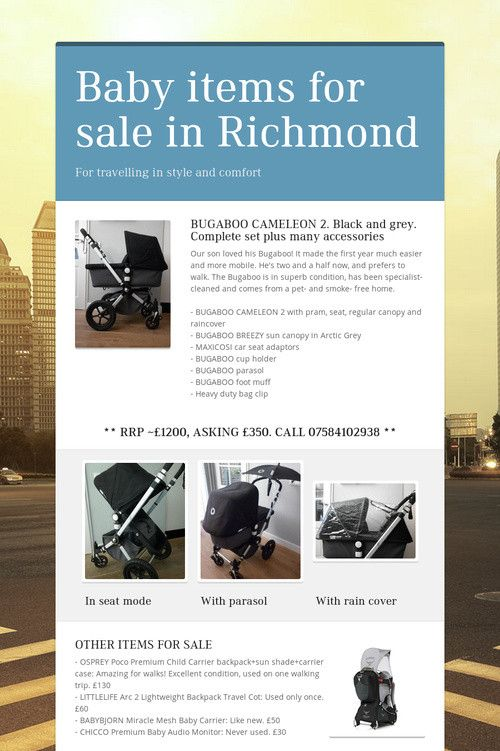 Help spread the word about Baby items for sale in Richmond. Please share! :)