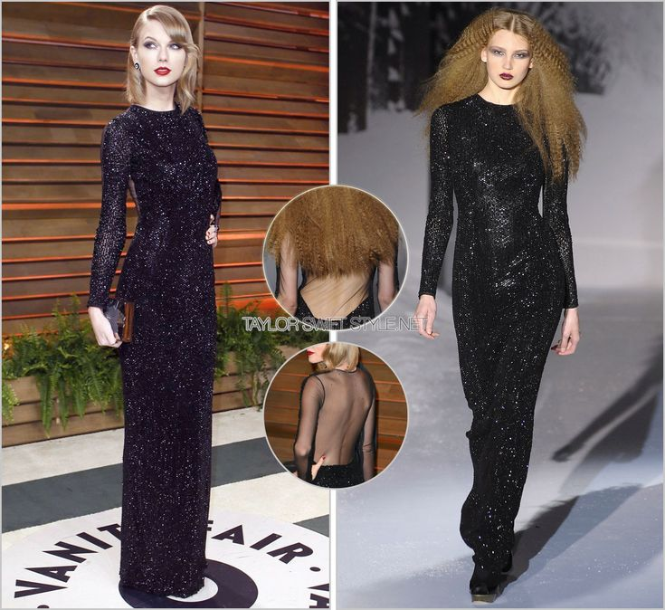 2014 Vanity Fair Oscar party | March 2, 2014 Julien MacDonald Fall 2008 Taylor took a dark, vampy turn at the Vanity Fair Oscar party last night in an off-the-runway Julien MacDonald floor-length...