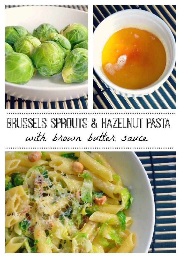 Brussels sprouts & hazelnut pasta