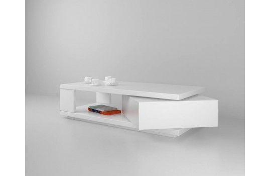 Table basse design rotative Ada blanche