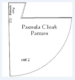 The paenula has been around since the Roman Empire, the design lasted well into the high Middle Ages and beyond. The paenula is a hooded-knee length cloak probably made of wool or leather and judging from iconography of the time it seemed to have been some shade of brown or yellowish-brown in color. This cloak is excellent for mild as well as rainy weather and it is also serves as sufficient bedroll while on campaign. http://www.oocities.org/royalorderofchivalry/PaenulaCloak.html