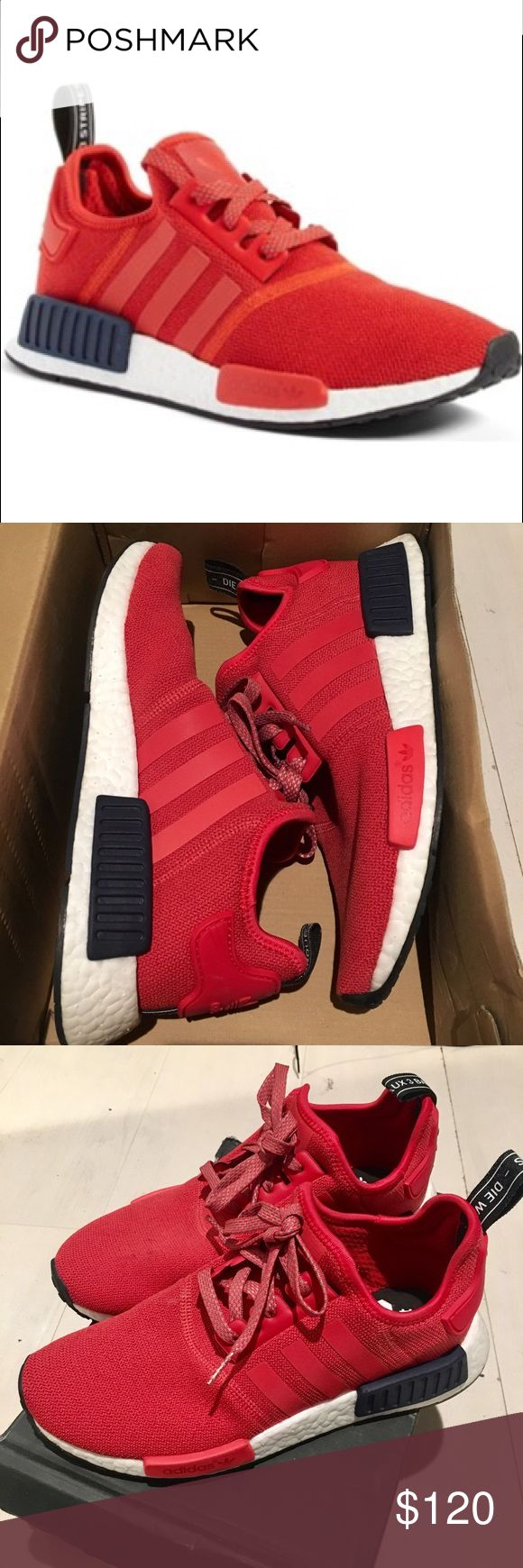 ADIDAS NMD_R1 W - Red Adidas NMD_R1 in a Women's US 8. Great condition. Worn twice. NOTE: all Ultra Boosts & NMD's do not come with insoles. Comes w/original box. Adidas Shoes Athletic Shoes