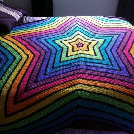 Crochet+For+Children:+Chromium+Star+Blanket+-+Free+Pattern