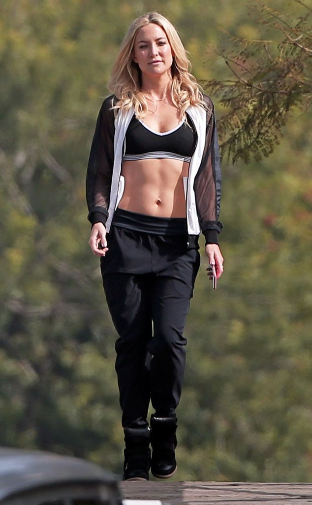 Washboard Abs from Celebrity Fitness Stars  In the presence of Kate Hudson, all other ab-fanatics fall short.