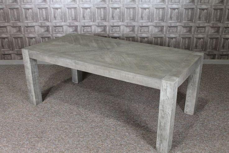 RECLAIMED RUSSIAN OAK RUSTIC KITCHEN TABLE 2M OAK RESTAURANT DINING TABLE