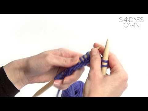 Sandnes Garn - Hvordan strikke rett maske - YouTube