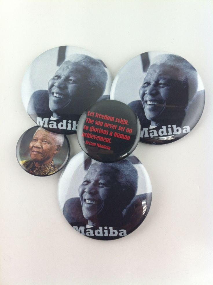 We're giving away these #nelsonmandela buttons in the shop all month.