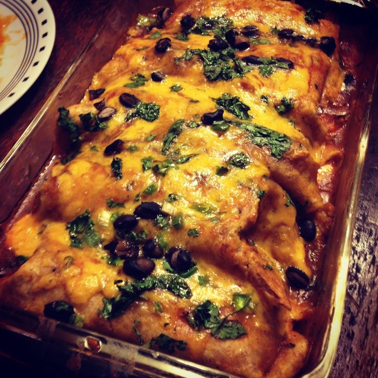 Mouth-watering venison enchiladas