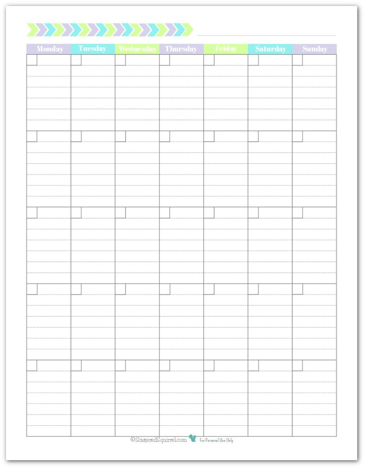 Best 25+ Blank Monthly Calendar Ideas On Pinterest | Blank Monthly