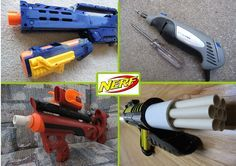 """Beginners can be easily repelled from the world of Nerf gun modding by seeing a modification """"write-up"""" that seems complicated. Many modification write-ups do seem confusing at first. However, modding a Nerf gun isn't very hard--It simply takes knowledge of how a Nerf gun works and how a mod should be executed. With this knowledge, modifying Nerf guns is quite simple. This Instructable will introduce you to the vast world of Nerf gun modifications. It covers basic concepts of Nerf g..."""