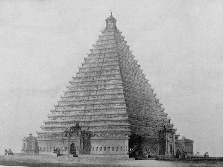 The Proposal For London's Trafalgar Square  London's Trafalgar Square was originally pitched as a 94m-high pyramid.