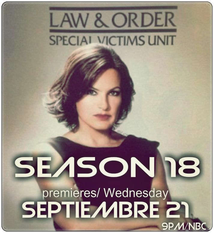 #SvuSeanson18  premieres/ Wednesday septiembre 21