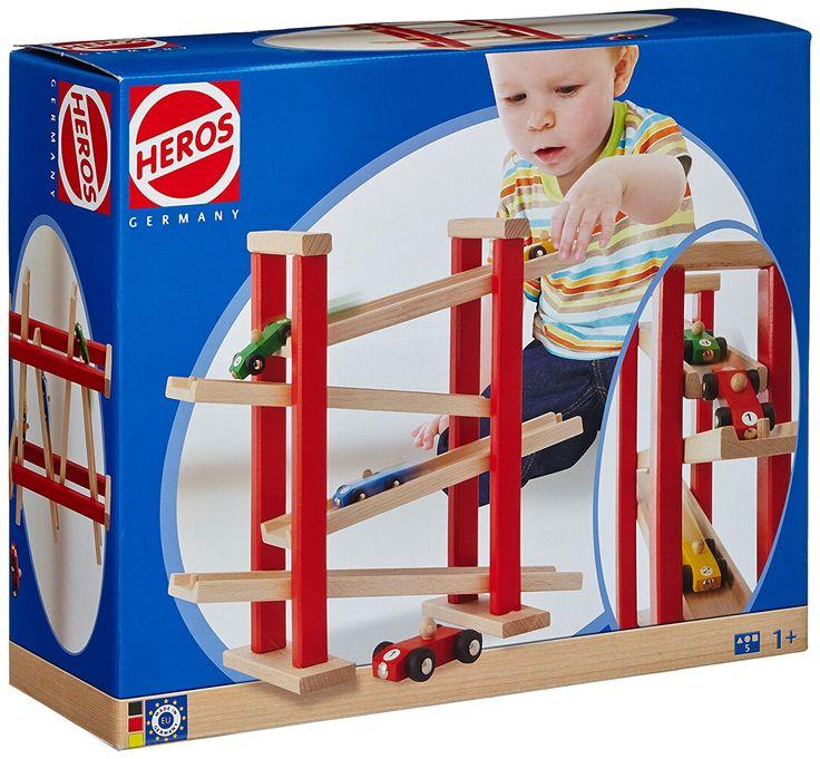 Heros - 27332 - Jeu de course automobile en bois - bois naturel / rouge - 38X31 cm: Amazon.fr: Jeux et Jouets
