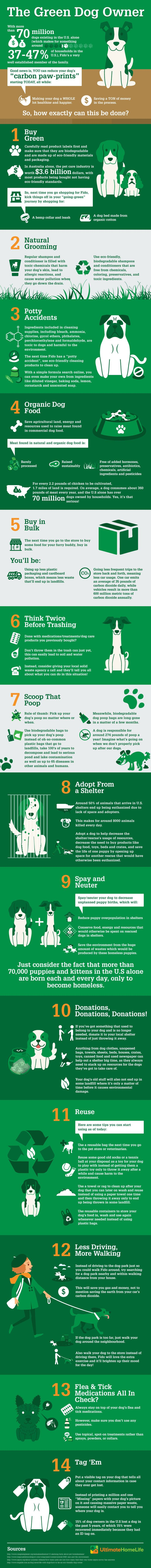 The Green Dog Owners Guide. Are you a dog owner? Check out this guide that will help you take care of your dog in an eco-friendly way.