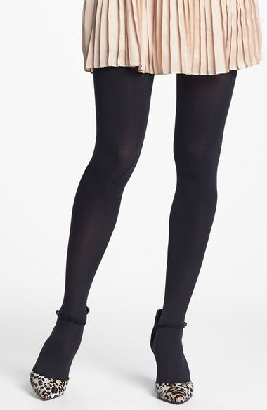 Nordstrom 'Everyday' Opaque Tights (Regular & Plus Size) available at #Nordstrom