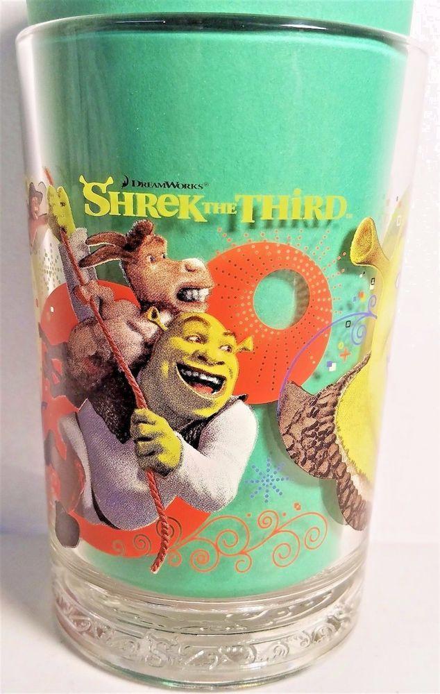 Shrek the Third Movie 2007 DreamWorks Animation LLC - McDonald's Collector Glass #Shrek