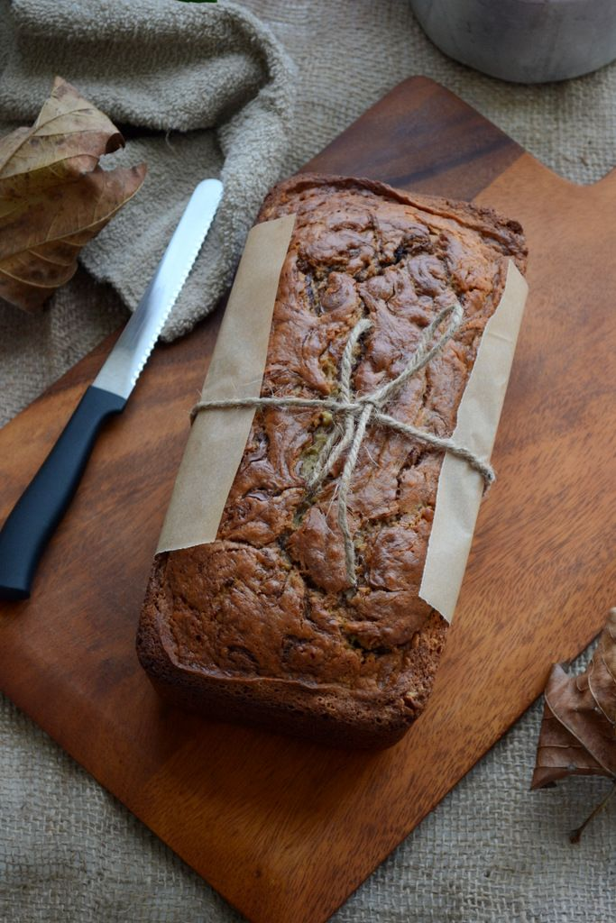 Olive Oil Banana Bread with Nutella Swirls is a simple and easy to make quick bread which can be made easily at home. Here is a tried and tested recipe to make it.