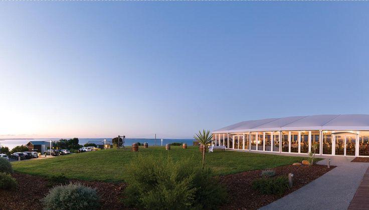 The Perfect Dusk sky as the guests enter your reception.  #silverwaterresort #resortwedding #outdoorceremony #phillipislandwedding #marqueewedding #regionalvictoria #sanremo #phillipisland