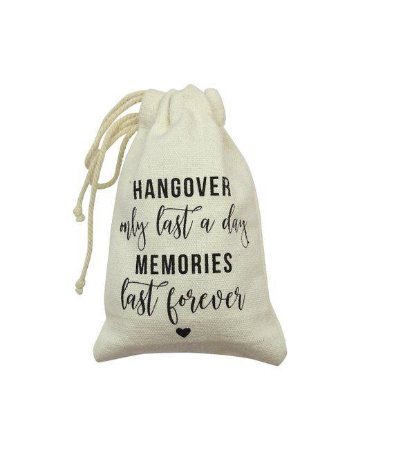 Personalize Drawstring Bag Bachelorette Party Favor Survival Kit Birthday Favor Custom Hangovers Last a Day Memories Last Hangover kit Bag