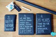 Blog Tintenelfe.de - Geschenkidee für die beste Freundin - Geschenke verpacken #giftwrapping #geschenkpapier…