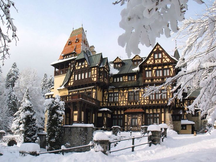 Hotel in the winter in Romania