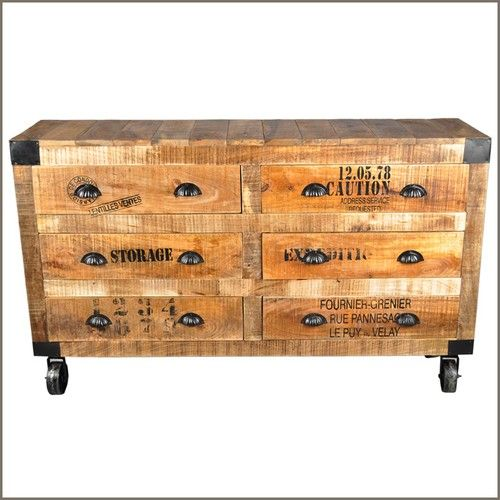 Industrial Drawer Side Board