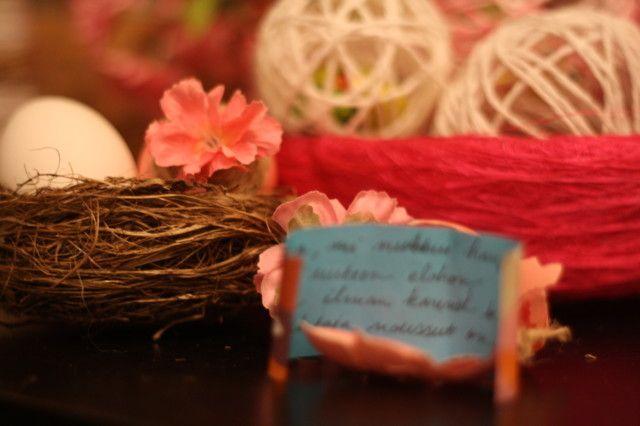 Pääsiäistoivotus munassa