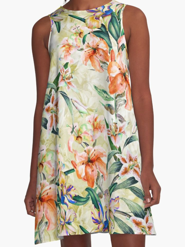 RPE Seamless Floral III by RIZA PEKER #women #fashion #summer #dress #floral #tropical