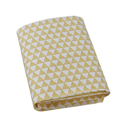 #popular fits snuggly on any standard US #crib mattress The soft citrine Pyramid Triangle Fitted Crib Sheet has been designed to pair #with the Scandinavian-chic ...