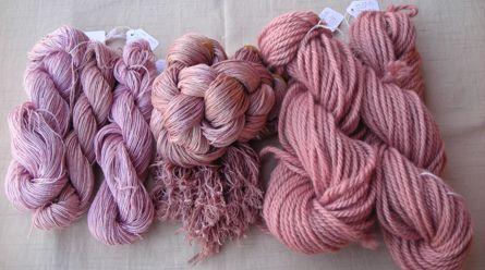 Deb McClintock, Texas; gorgeous lichen dyed yarns