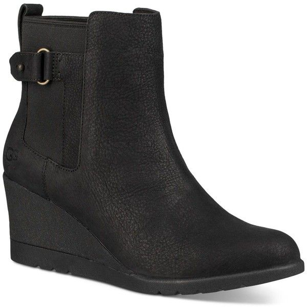 59faa743b67 Ugg Indra Wedge Booties ( 180) ❤ liked on Polyvore featuring shoes ...