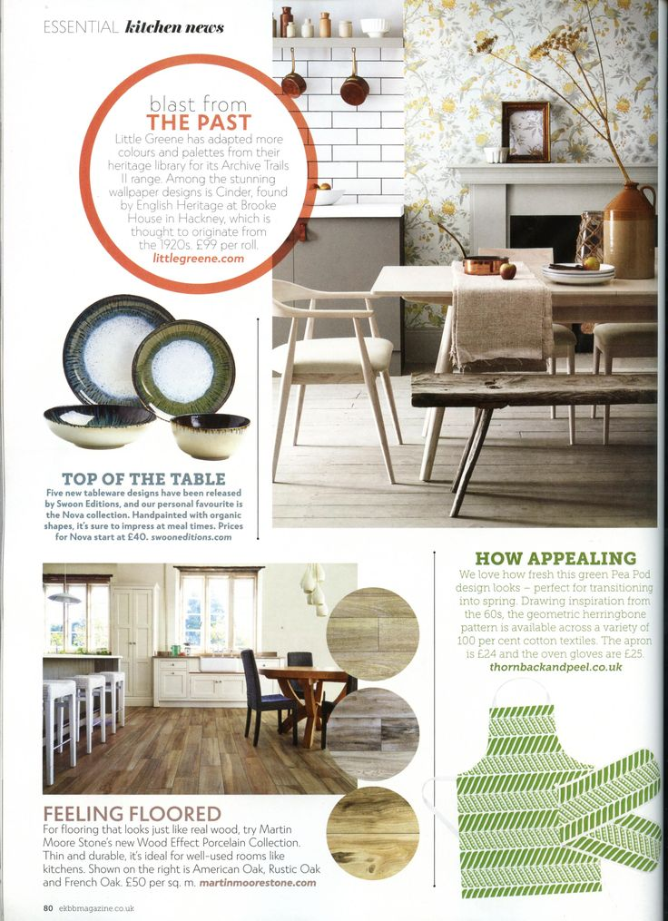 For flooring that looks like real wood look no further than Martin Moore Stone. www.martinmoore.com Essential Kitchen Bathroom Bedroom March 2018