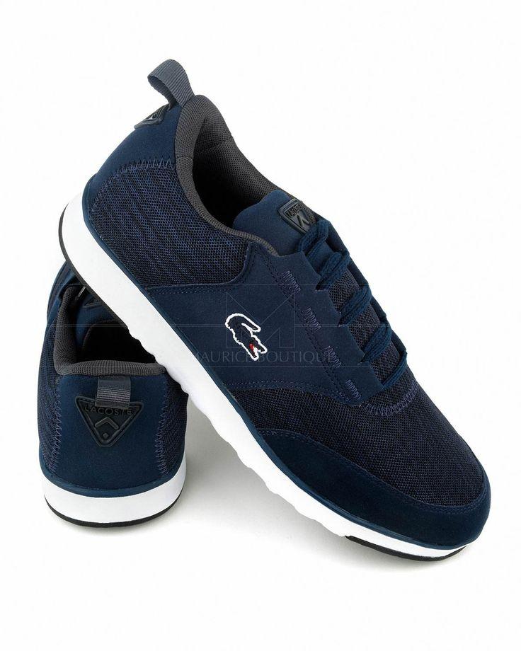 Zapatillas LACOSTE ® Light ✶ Azul Marino & Blanca | ENVÍO GRATIS