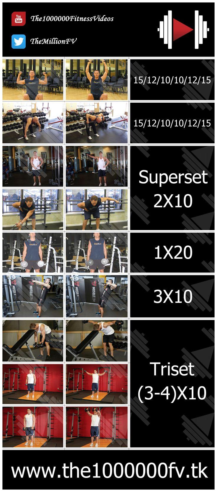 Shoulder workout for mass gain (intermediate level) #shoulder_workout #shoulder_workout_for_mass #shoulder_workout_for_the_gym #strengthening_shoulder #shoulder_workout_for_Beginners
