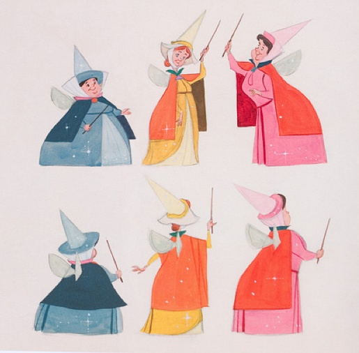 The Sleeping Beauty Fairies Concept Art