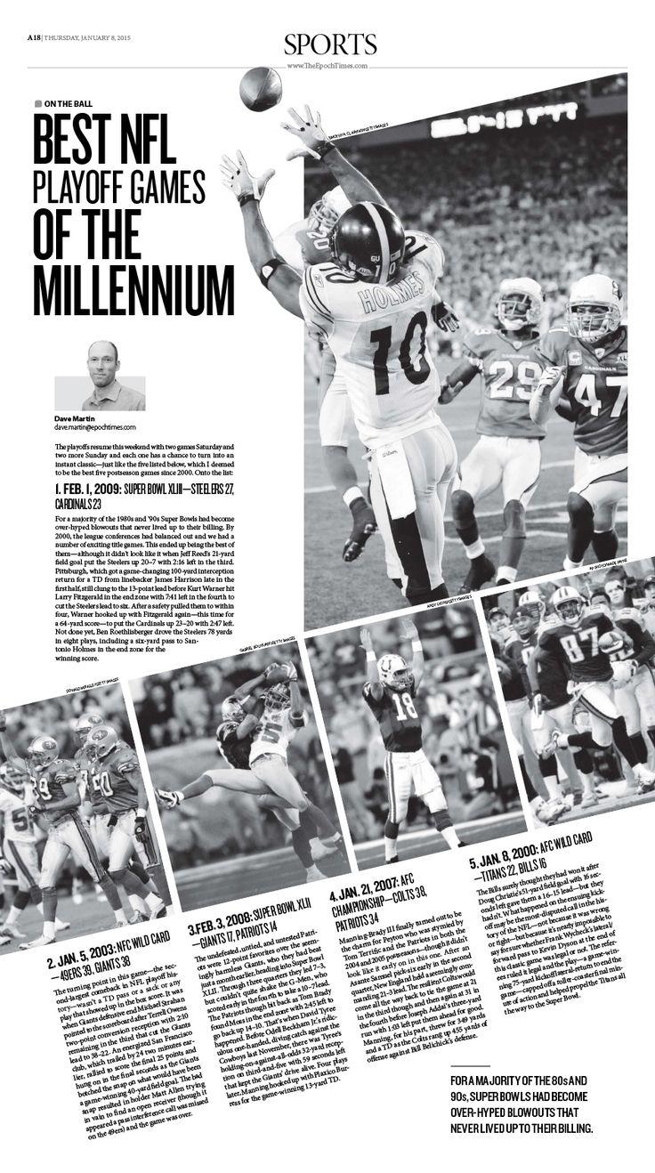 Best NFL Playoff Games of the Millennium|Epoch Times #newspaper #editorialdesign
