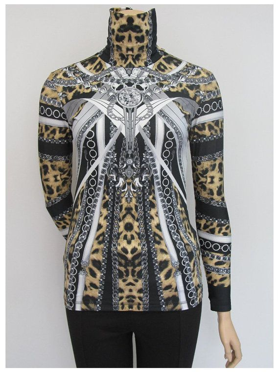Check out this item in my Etsy shop https://www.etsy.com/listing/247544606/diamond-printed-printed-turtleneckwomen