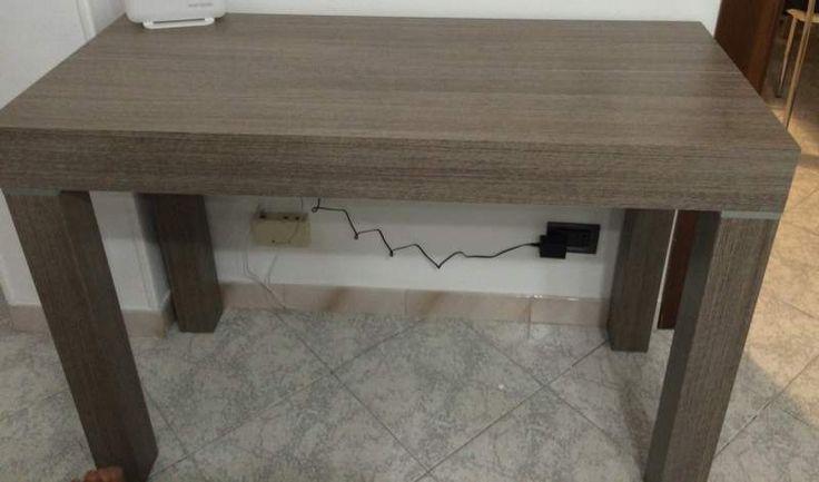 Consolle tavolo allungabil mt.3 rovere grigio ven 2