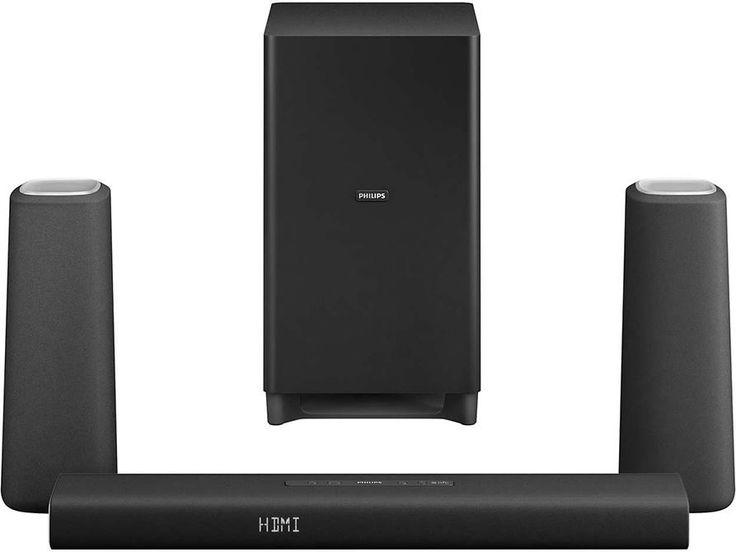 Philips CSS5330 Black  Description: Philips CSS5330: Een thuisbioscoop met fantastische sound Ervaar met deze 3.1-kanaals Zenit-bioscoopluidsprekers geluid van de hoogste hoogten! De Philips CSS5330 laat jou ongeacht de luisterpositie draadloos genieten van een natuurlijk en gebalanceerd geluid. Bovendien staat deze speakerset ontworpen met moderne en authentieke materialen ontzettend mooi in jouw interieur. Ervaar nu jouw eigen bioscoop in jouw woonkamer. Zenit-bioscoopluidsprekers Totaal…