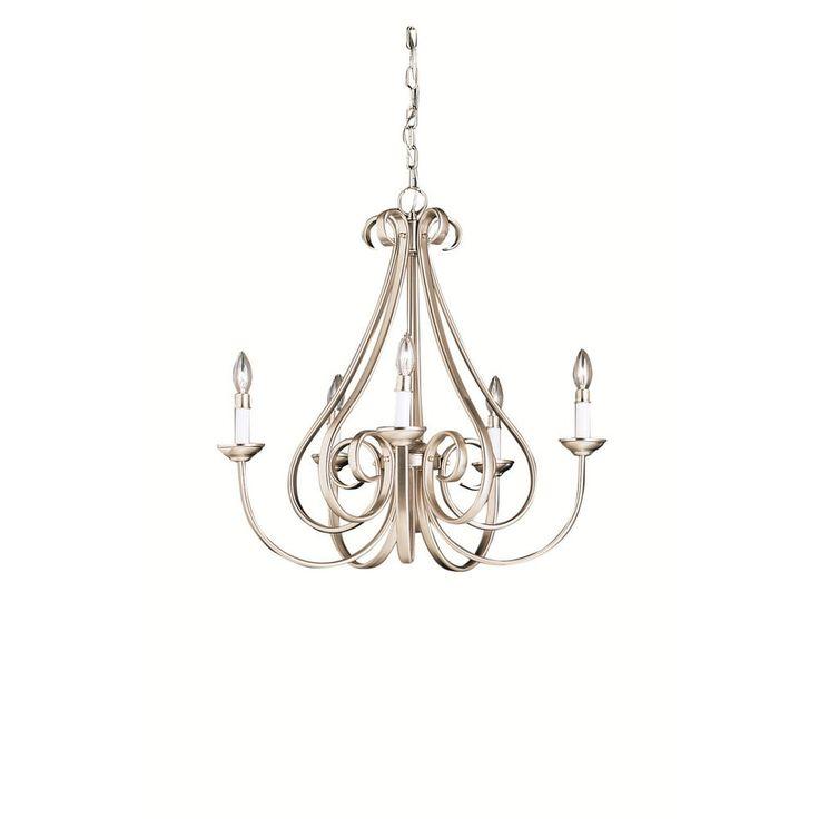 Kichler Lighting Dover Collection 5-light Brushed Nickel Chandelier | Overstock.com Shopping - The Best Deals on Chandeliers & Pendants