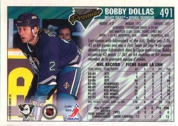 1993-94 O-Pee-Chee Premier #491 Bobby Dollas Back