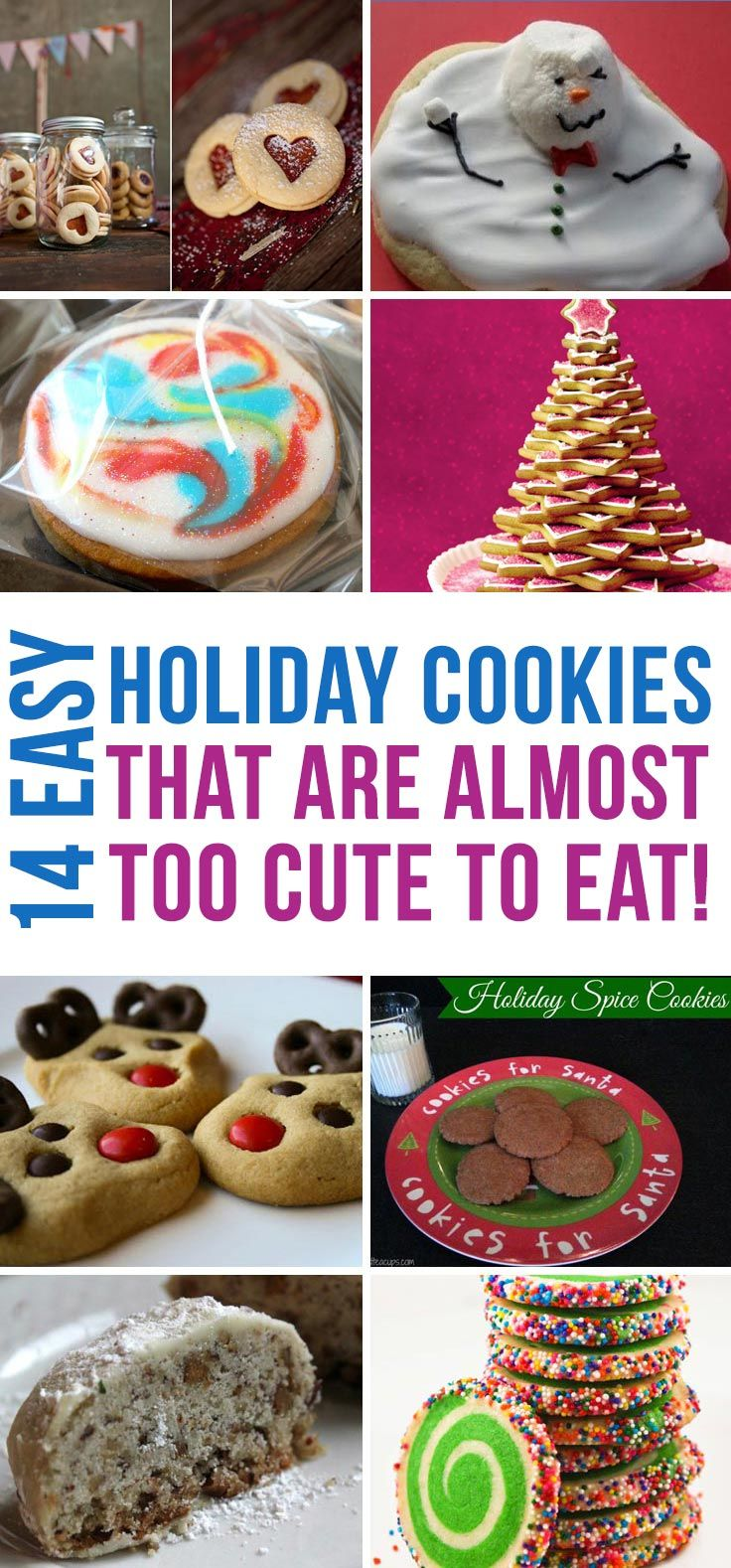 Oh my goodness these easy Holiday cookies recipes look almost too cute to eat!