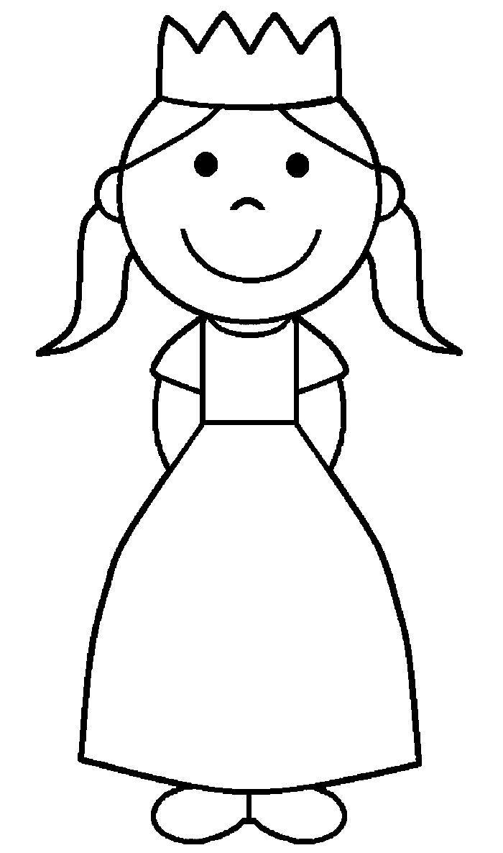 Okul Oncesi Prenses Boyama Sayfasi Preschool Princess Coloring