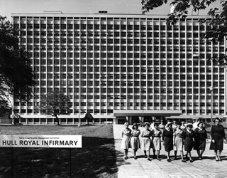 Hull Royal Infirmary - this was built to replace a lovely Victorian building in the city centre. I think the new hospital was by Yorke Rosenburg and Mardell.
