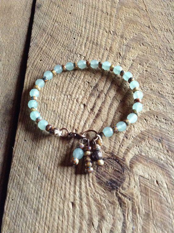 Aventurine rustic bracelet rustic jewelry fashion by Auntelisabeth