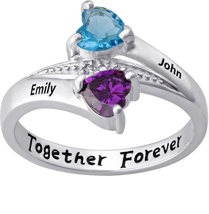 Fine Jewelry Personalized Womens Crystal Sterling Silver Cocktail Ring tATcwU