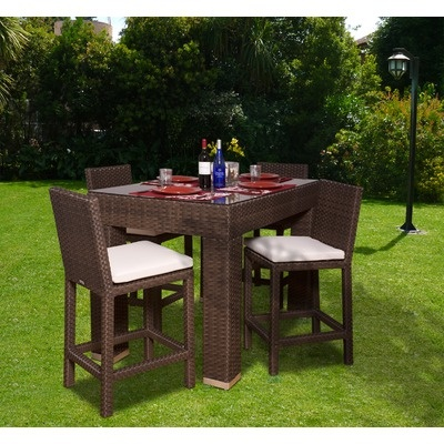 international home miami atlantic 5 piece bar height dining set source outdoor furniture napa side o