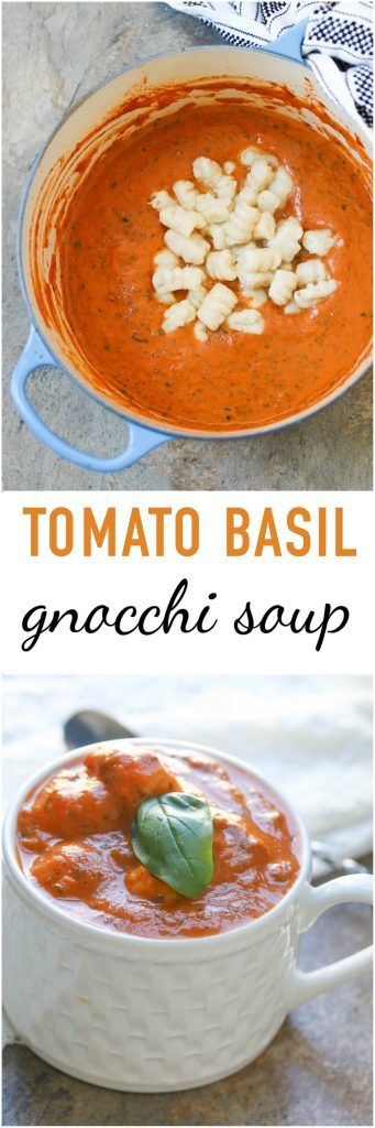 Tomato Basil Gnocchi Soup is an ultimate comfort food that combines creamy tomato soup with pillow-soft gnocchi. It is a vegetarian and vegan-friendly meal for both adults & kids.