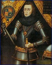 George Plantagenet, Duke of Clarence. Brother of Kings Richard III and Edward IV. Father of Edward, the last full-blooded Plantagenet male. Accused of treason for imagining the death of his brother, the King Edward IV, and supporting the deposed Henry VI, he was executed by his brother, and as legend has it, was drowned in a vat of Malmsey wine in 1478 in the Tower of London.