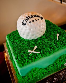 Groom's golf inspired cake is perfect for a wedding or shower at Healy Point! #healypointweddingsandevents